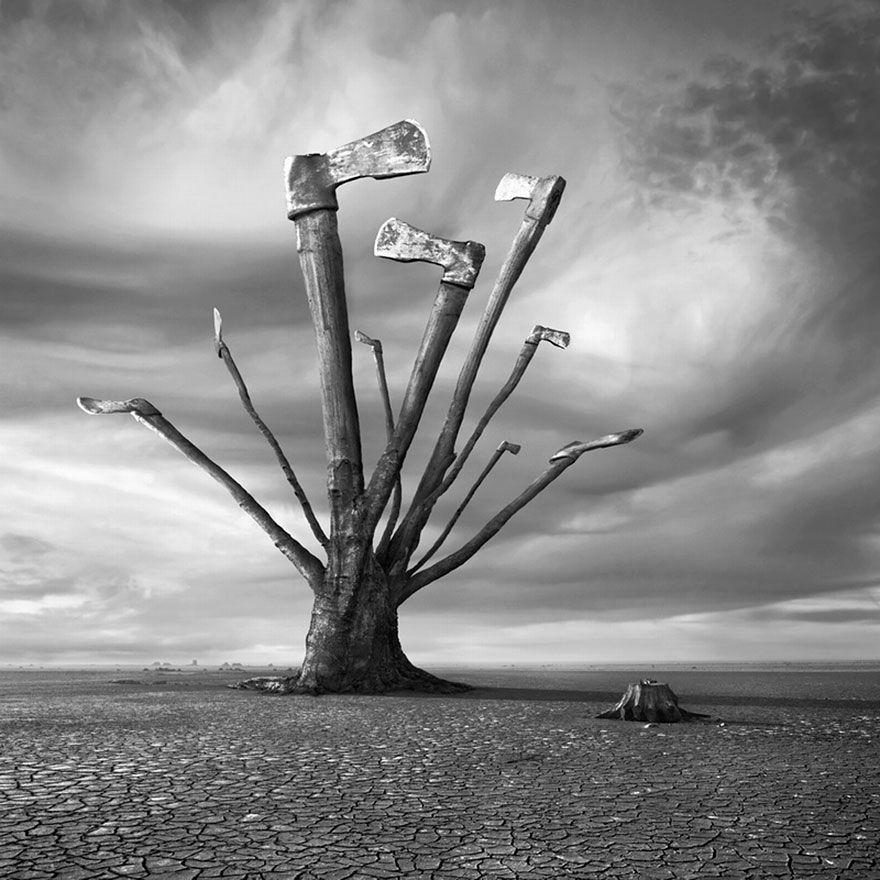 Surreal Monochromatic Images by Dariusz Klimczak