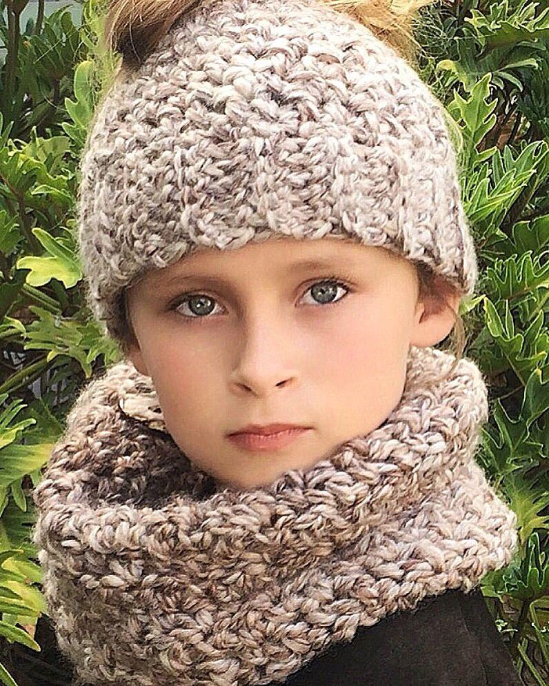 Messy Bun Hat Neck Warmer Crochet Pattern Messy Bun Hat
