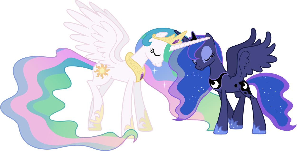 Celestia and Luna by retrokidz on DeviantArt