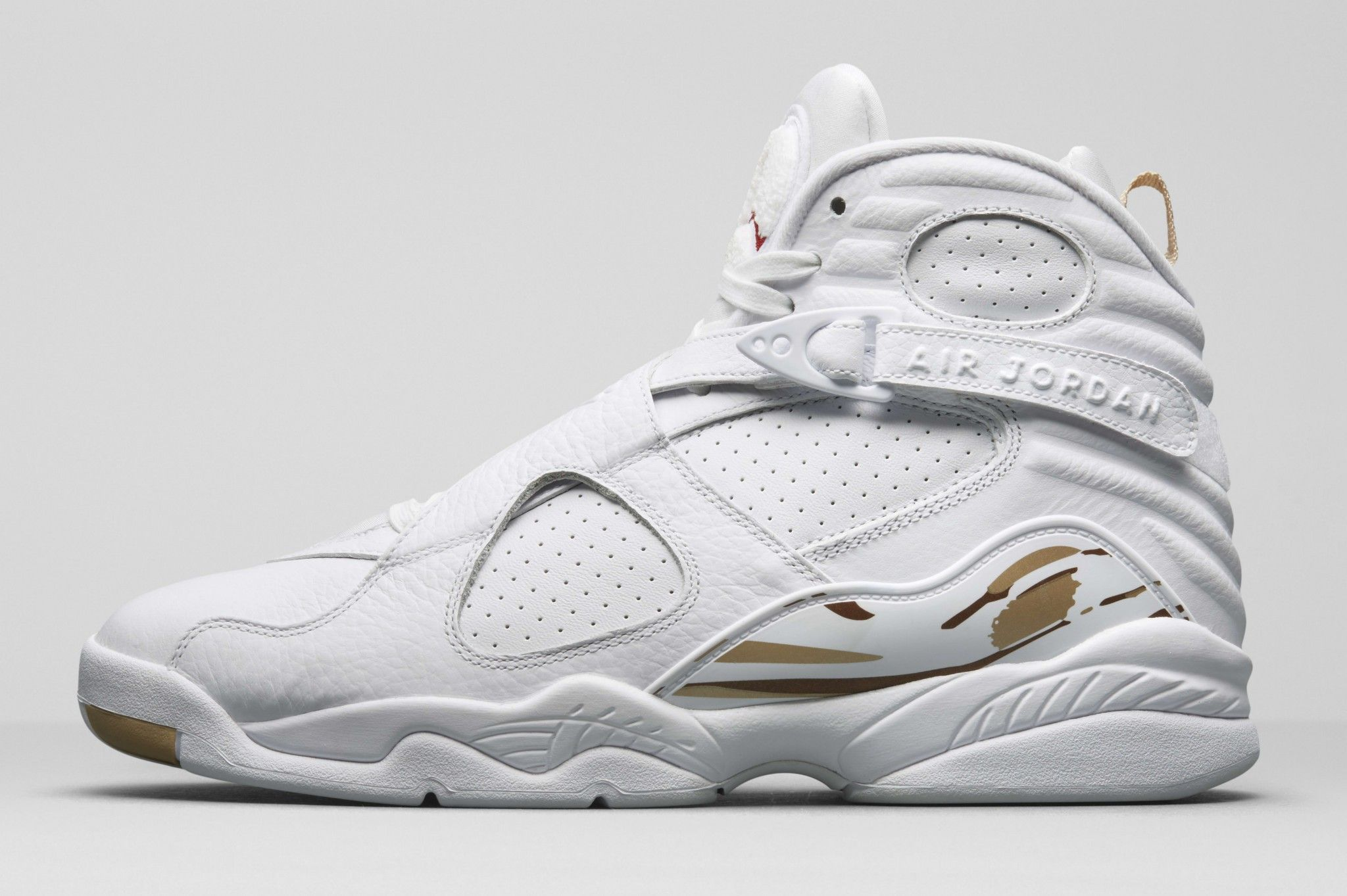 5fe6789a1f6 OVO MUTHA FUCKA White And Gold Jordans