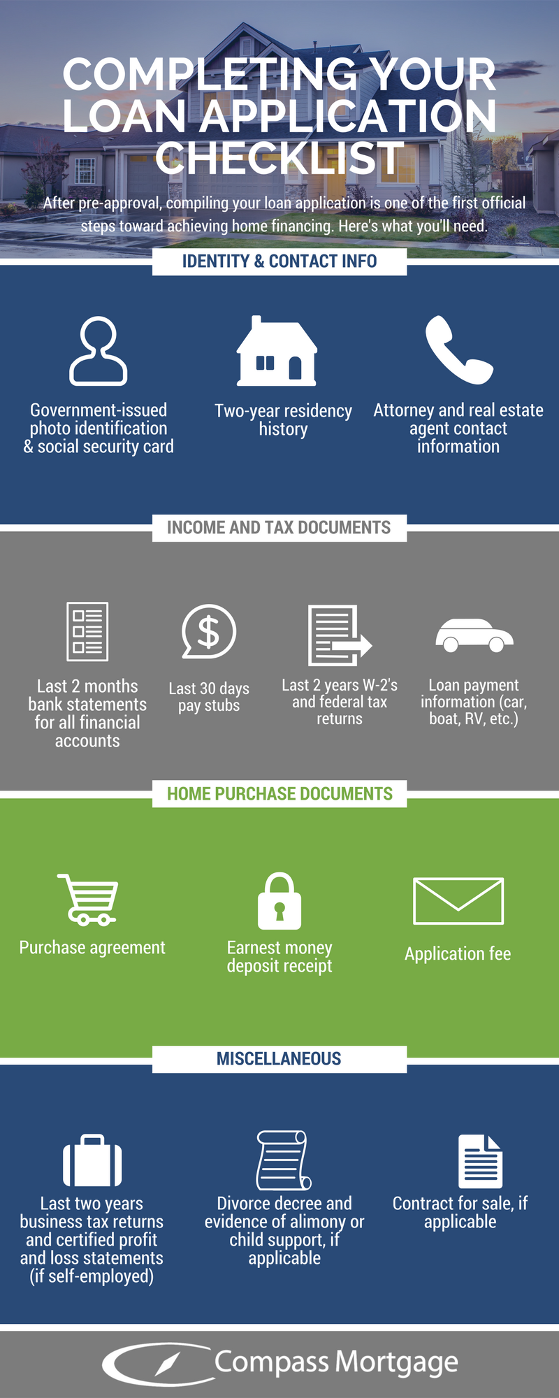 Buying your first home loan application checklist png kentucky fha va usda