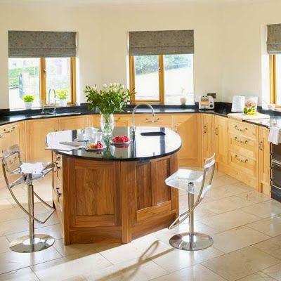 Diseños de cocinas con islas curvas