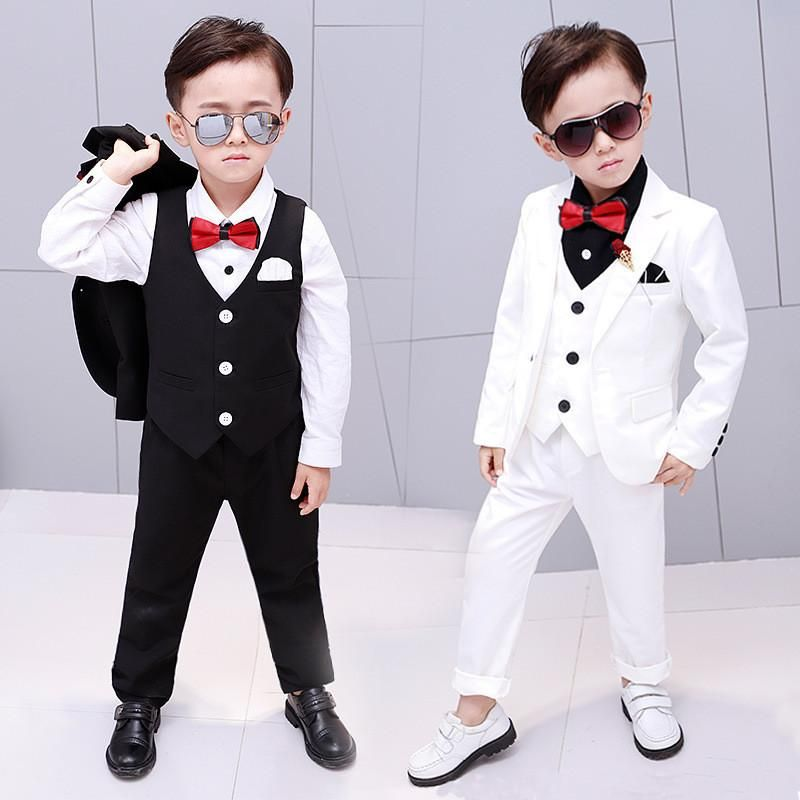 3877f2a6c13c0 2019 Fashion Baby Boys Jackets Blazer+Vest+Pants 3pcs Tuxedos Suits ...