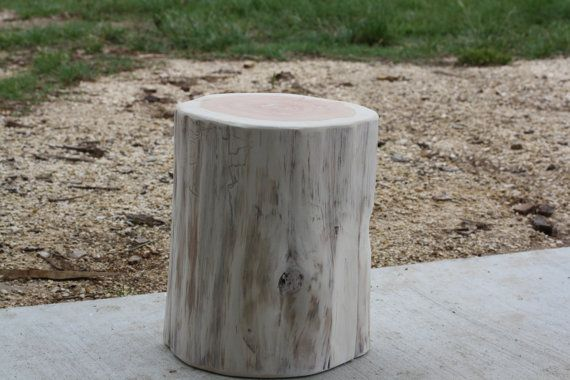 Tree Stump Seat, Table, Stool, S, M, L Available, Painted