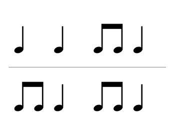 Rhythm Flashcards Ta Ti Ti Quarter Rest And Half Note Flashcards Piano Music Lessons Violin Teaching