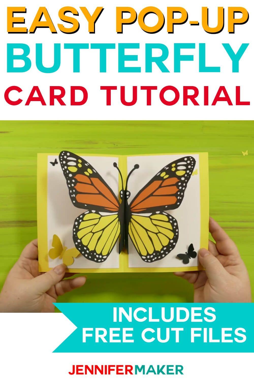 Easy Butterfly Card Diy Pop Up Tutorial Jennifer Maker Butterfly Cards Cards Handmade Cricut Crafts
