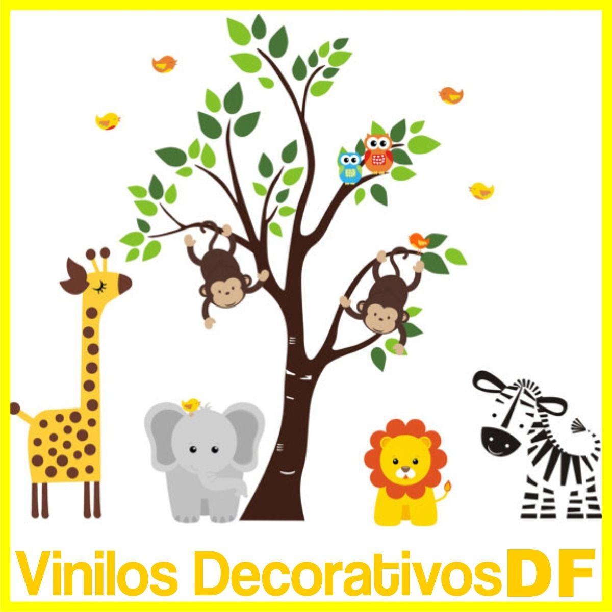 Animales selva infantil buscar con google ideas cumple - Vinilos infantiles animales ...