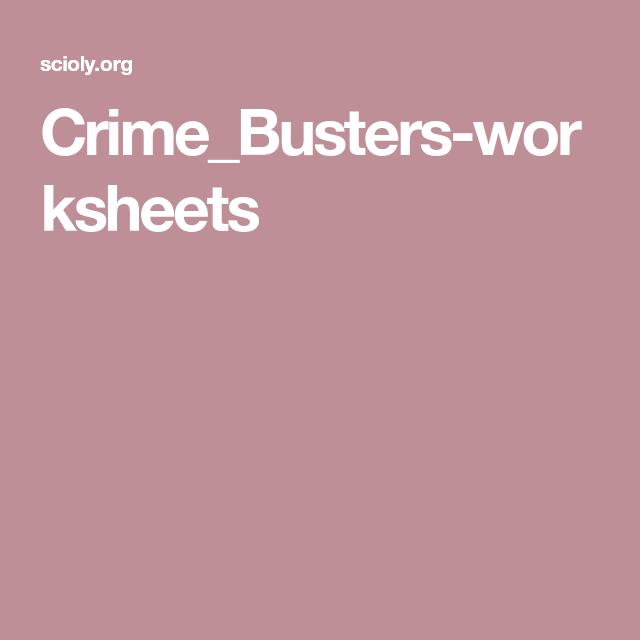 Crime_Busters-worksheets