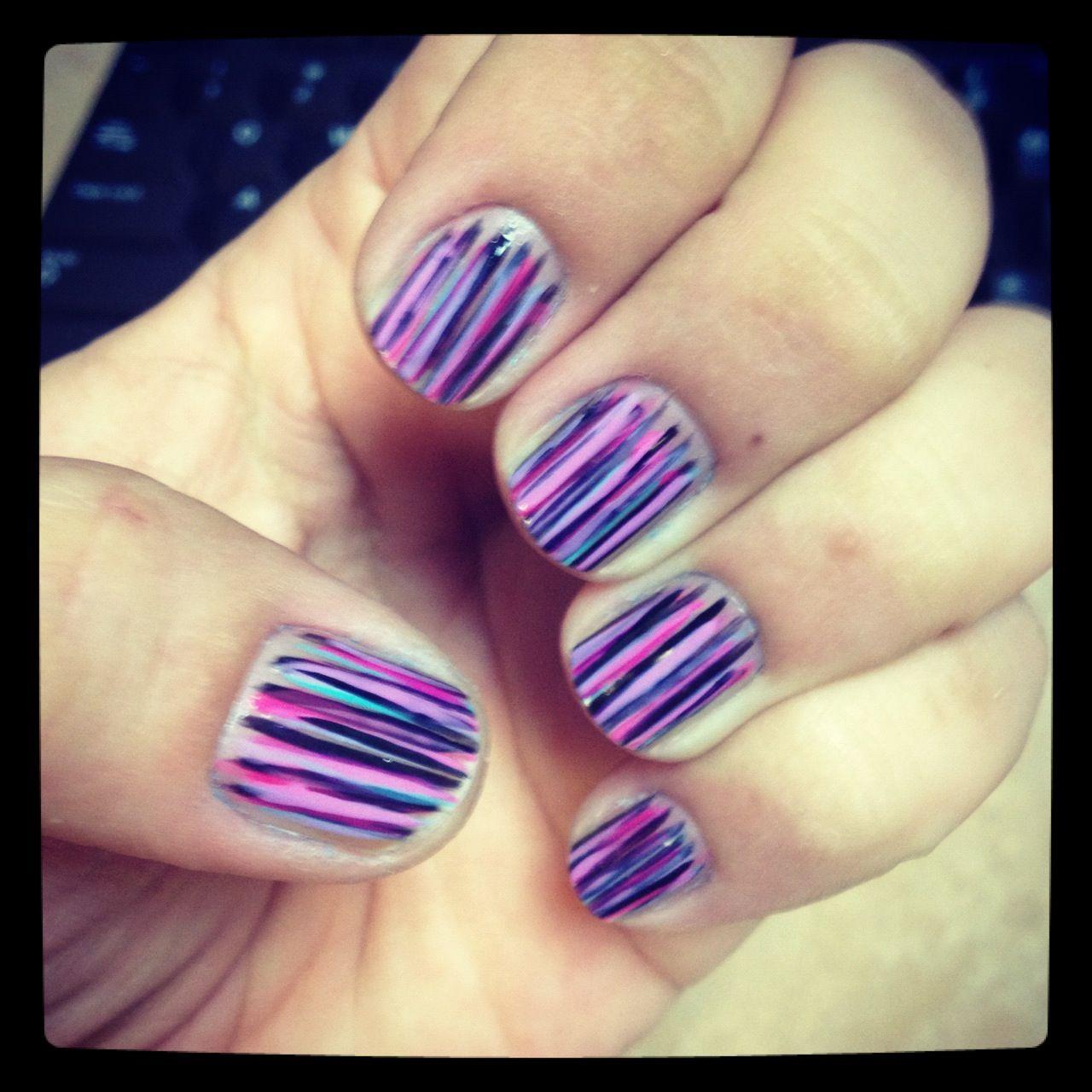 Fan Brush Nail Art | My Nail Designs | Pinterest | Fan brush nails ...