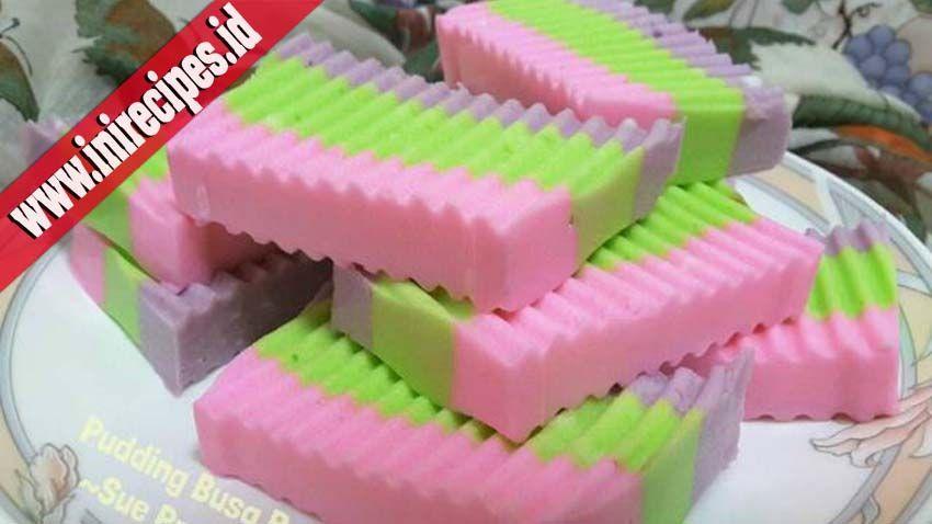 Resep Membuat Puding Busa Rainbow Yang Enak Dan Praktis Puding Resep Puding Coklat