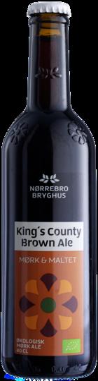 King's County Brown Ale / Nørrebro Bryghus´ første gæstebryg – en klassisk amerikansk Brown Ale på 5,5 % alkohol modelleret efter gæstebryggeren Garrett Oliver´s egen Brooklyn Brown Ale. Mørk, middelfyldig, frugtig ale med duft og smag af nødder, chokolade og tørret frugt.