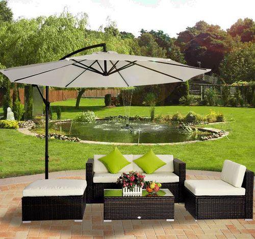 Rattan Outdoor Garden Patio Furniture Lounger Sofa Set Wicker ...