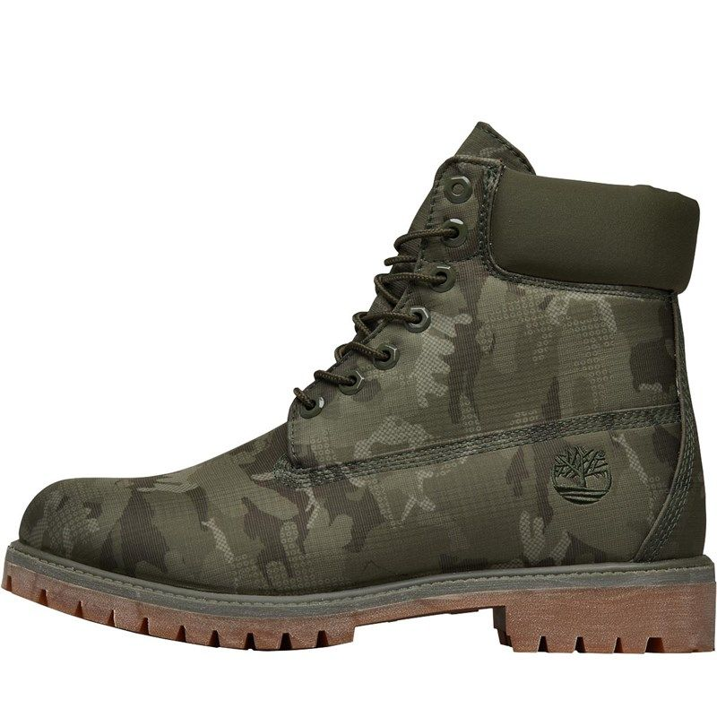 b4193aa0526 Timberland Mens 6 Inch Premium Camo Boots Grape Leaf | Cool Shoes ...