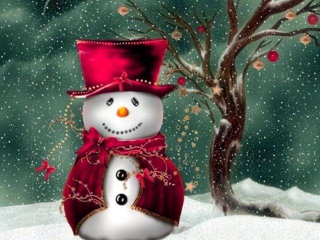 Christmas Screensavers Free 640x480 Christmas Snowman 640x480 Wallpaper Screensaver Preview