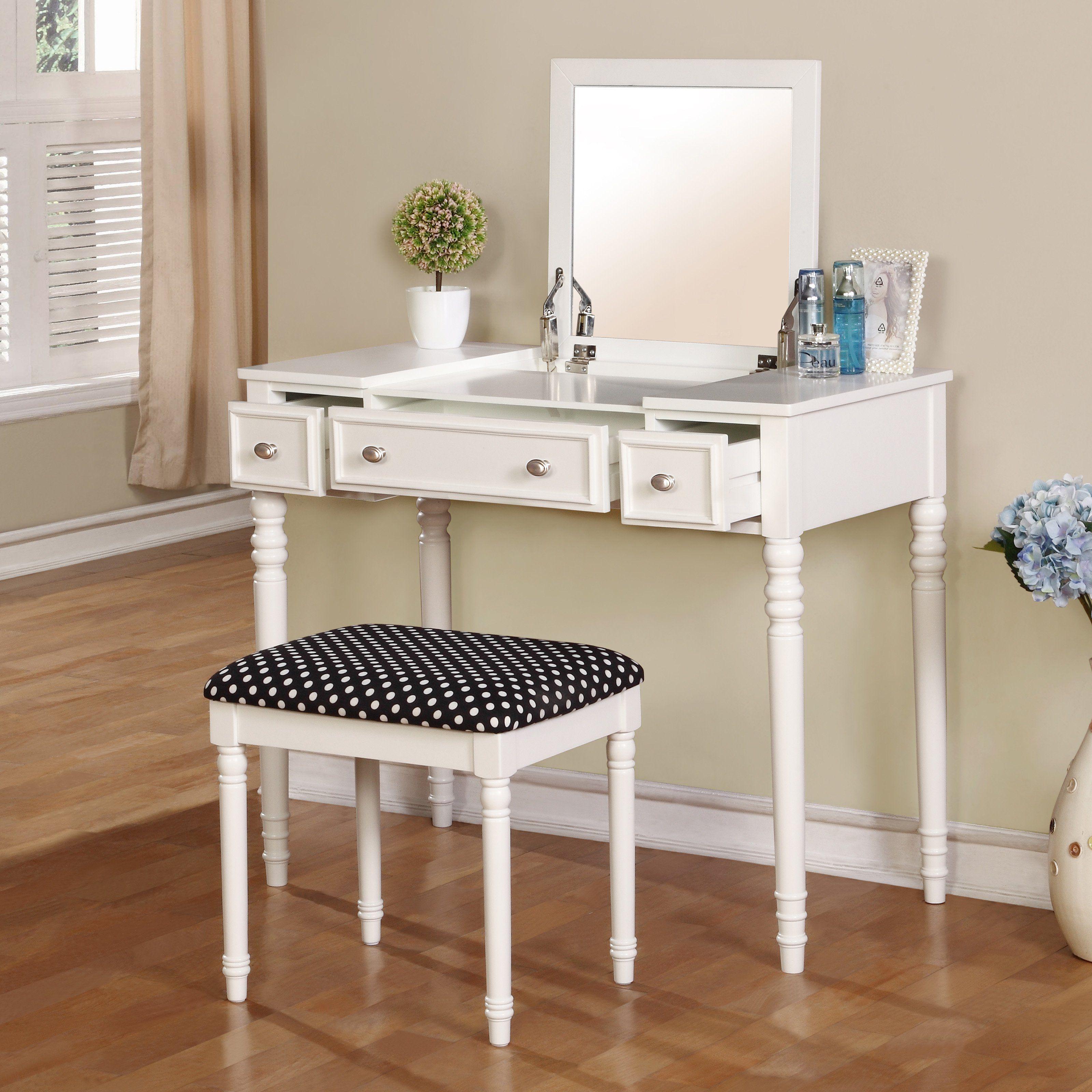 Linon Biltmore Vanity Set   Bedroom Vanities At Hayneedle