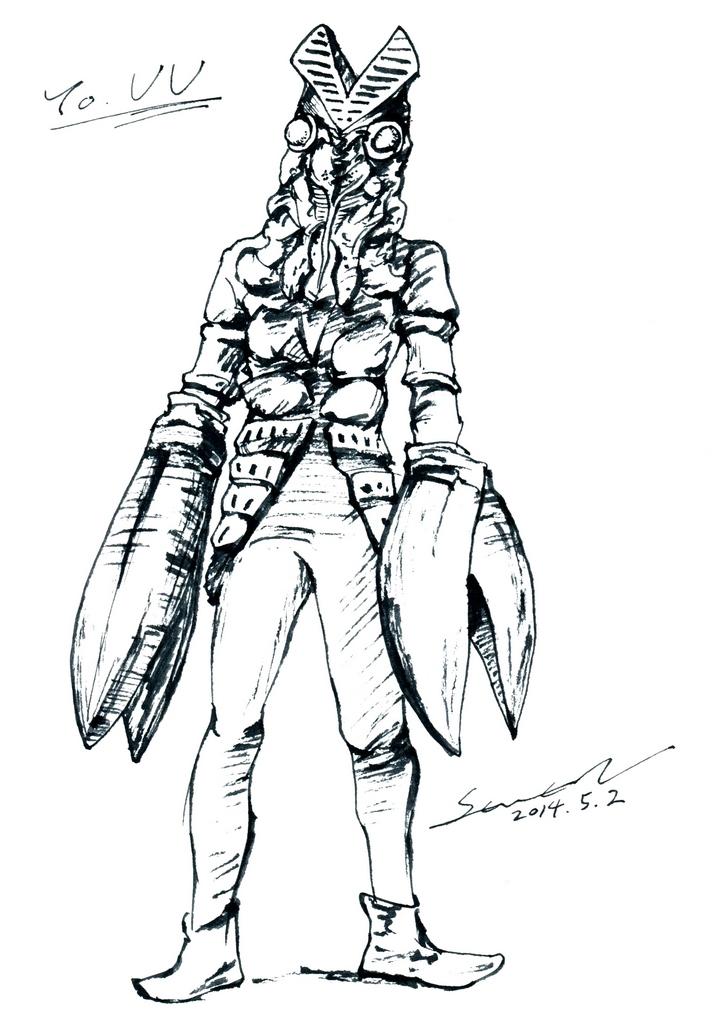 特撮 バルタン星人 Seven 的插画 Pixiv バルタン星人 イラスト 人 イラスト