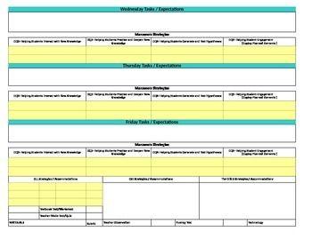Florida StandardsMarzano Interactive Lesson Plan TemplateFirst - Robert marzano lesson plan template