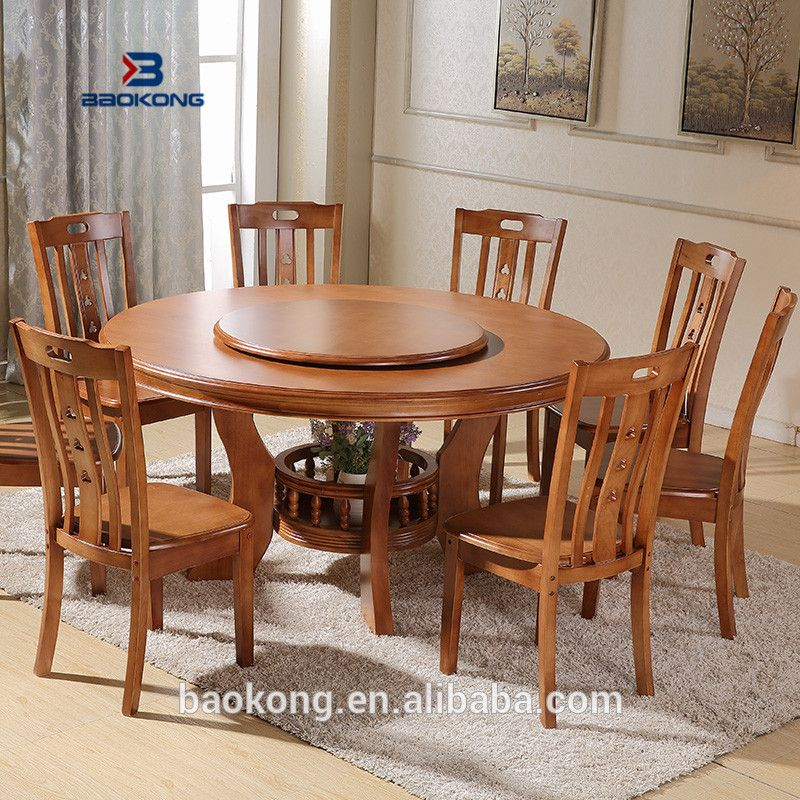 42++ Solid wood round dining table set Best