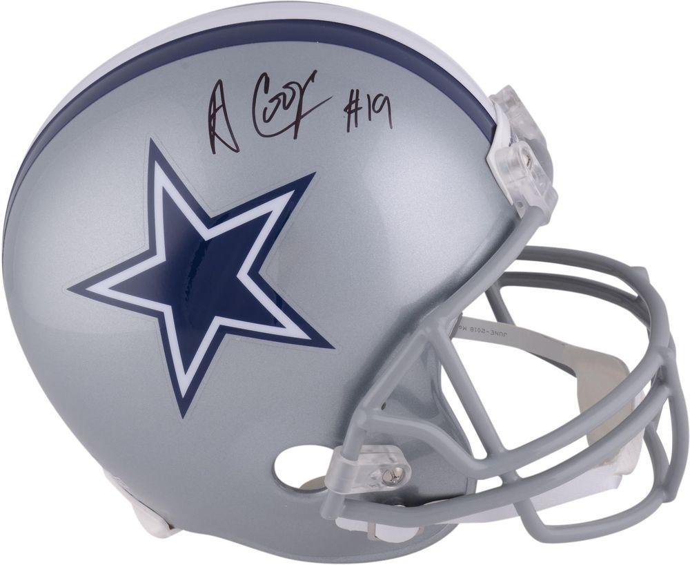 Amari cooper dallas cowboys autographed riddell replica