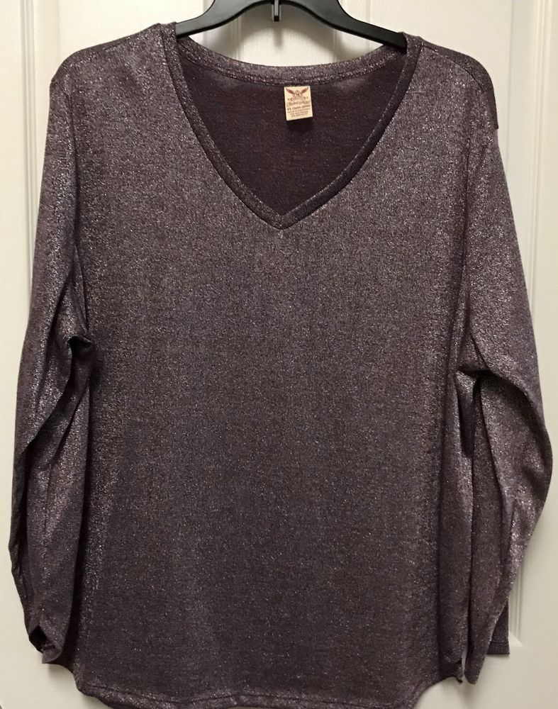 e7493a9dff5 Women s Plus Purple Metallic Faded Glory Top size 4X  fashion  clothing   shoes  accessories  womensclothing  tops (ebay link)