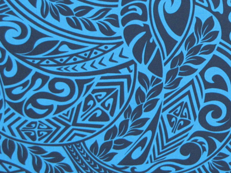Hawaiian Fabric, Tapa Tattoo Tropical Ferns. Check it out at ...