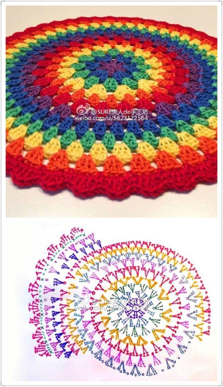 Tejido a crochet redondo | mandalas | Pinterest | Tejido, Mandalas y ...