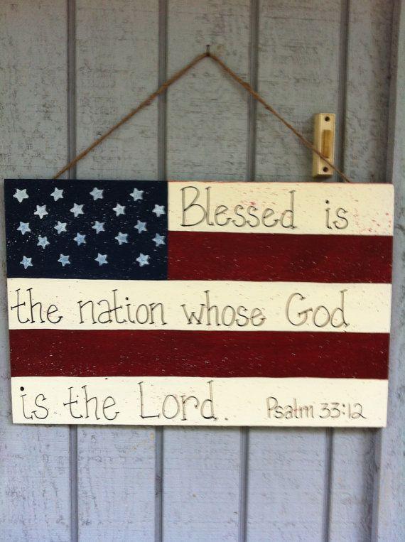 American Flag Door Hanger by ThePaintDiva on Etsy $25.00 & American Flag Door Hanger by ThePaintDiva on Etsy $25.00 | Paint ...
