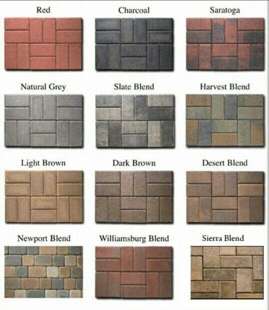 Paving Stone Colors Paving Stone Patterns Pinterest