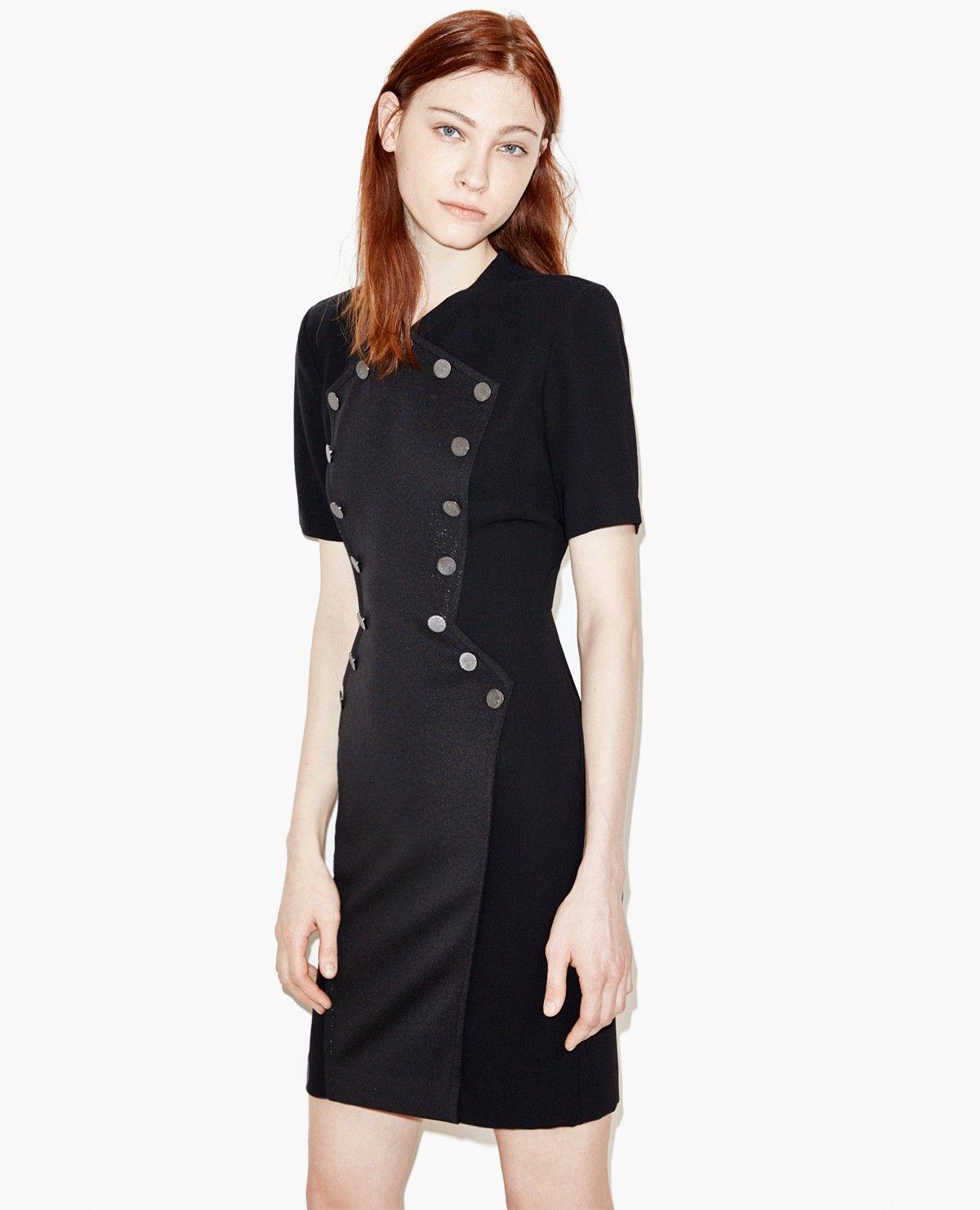 Bi-material dress. - The Kooples