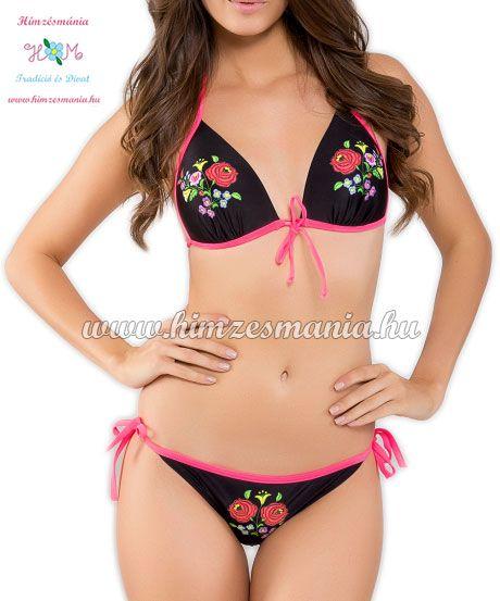 07719e656b Kalocsai bikini - push up - nyomott minta - fekete | KALOCSAI ...