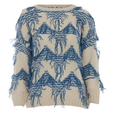 Jumpo London Blue knitted pattern jumper- at Debenhams.com
