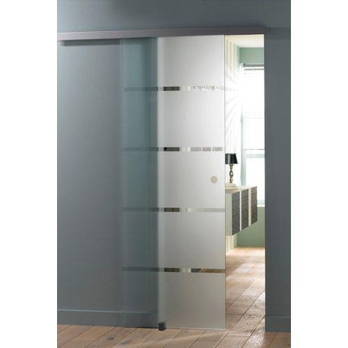 porte coulissante miami en verre d poli porte coulissante oslo en - porte d armoire coulissante