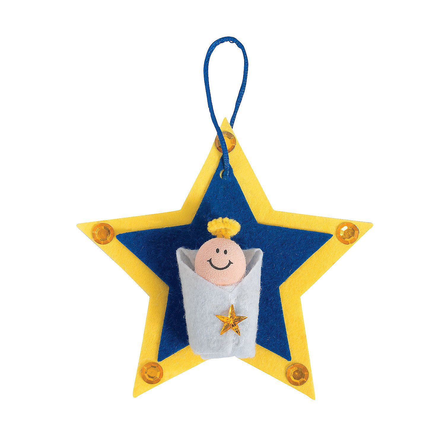Baby Jesus Star Ornament Craft Kit - OrientalTrading.com $5 for 12