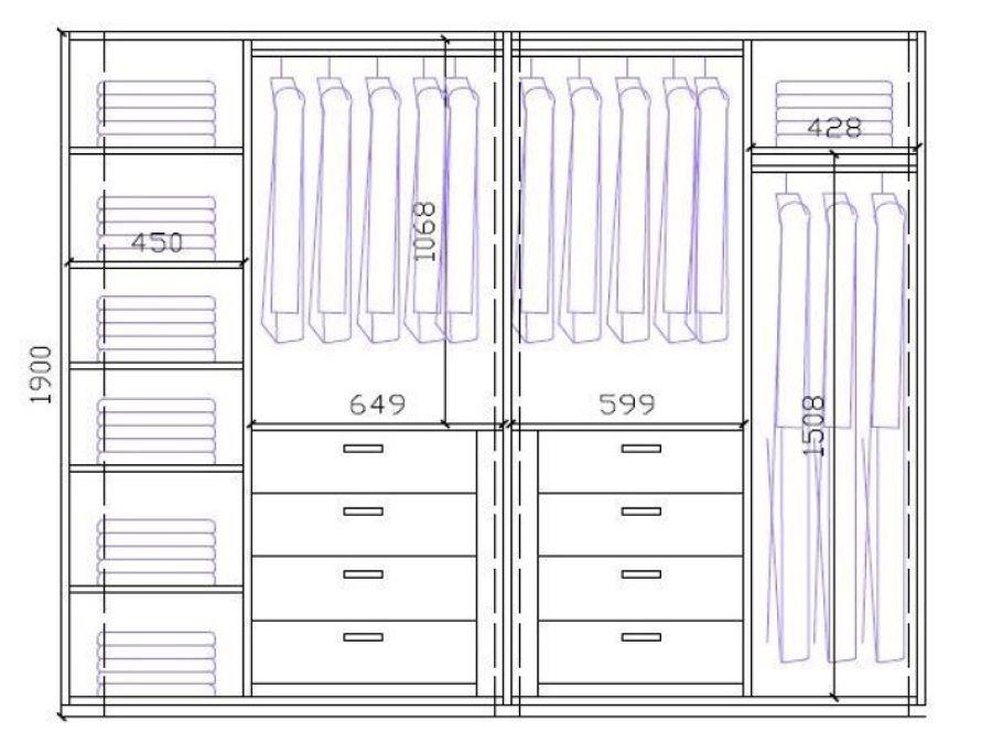 Forrar armario 2 armarios grandes y 1 peque o mijas - Medidas de un armario ...