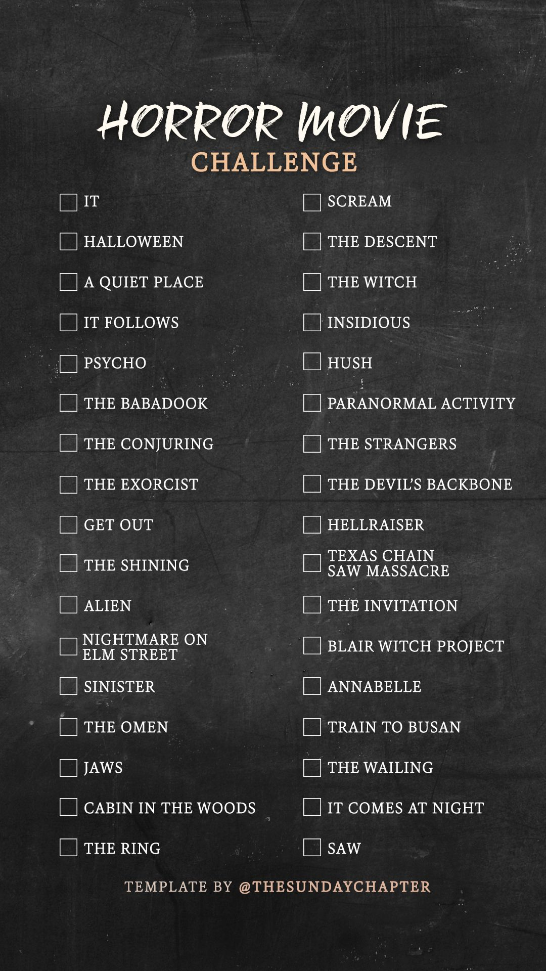 Horror movie instagram story template #netflixmovies
