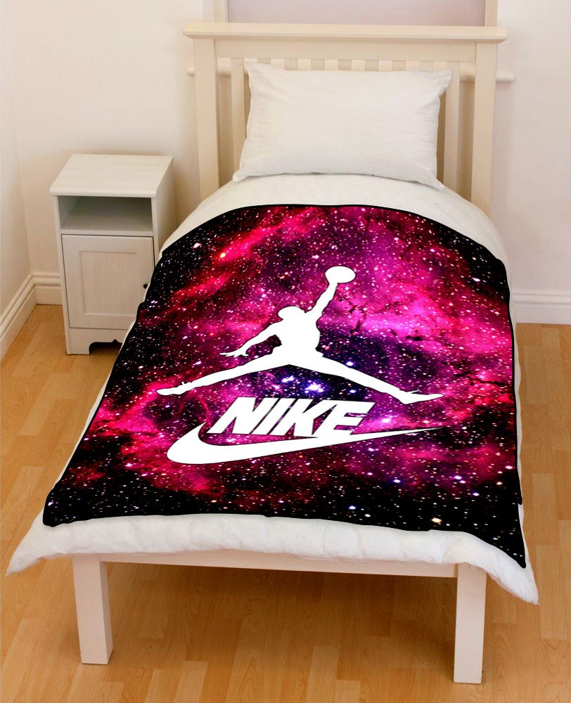 Nike Galaxy Rosette Nebula Michael Jordan 23 Bedding Throw