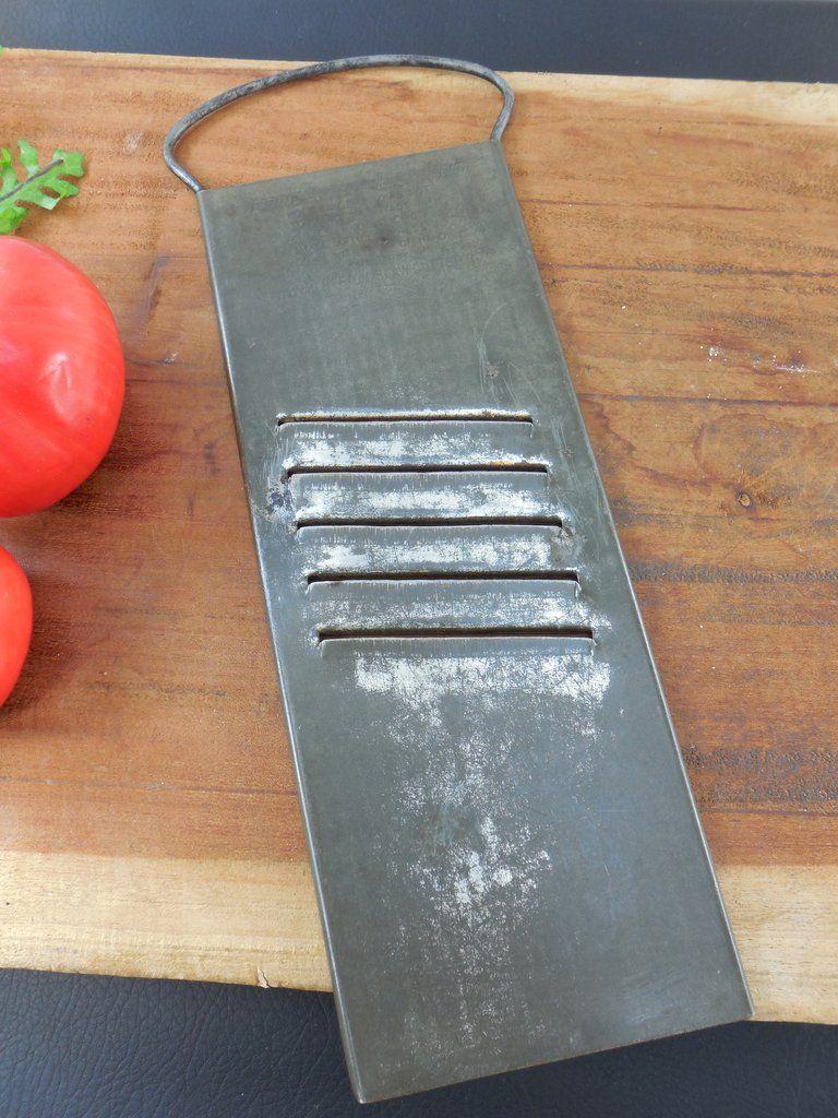 Buffton Slaw Vegetable Cutter Grater - Vintage Tinned Steel Kitchen ...