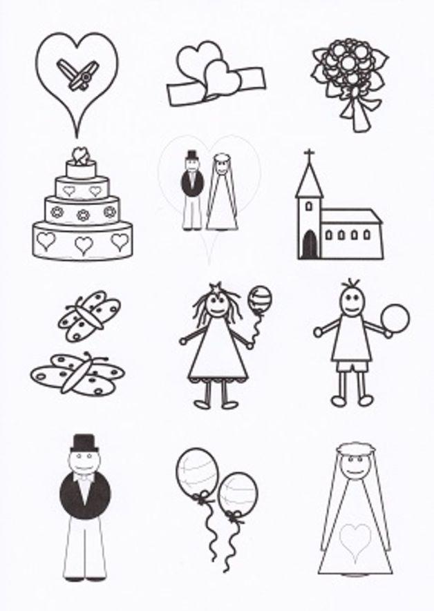 Hochzeitsmalbuch für kleine Kinder Gastgeschenk