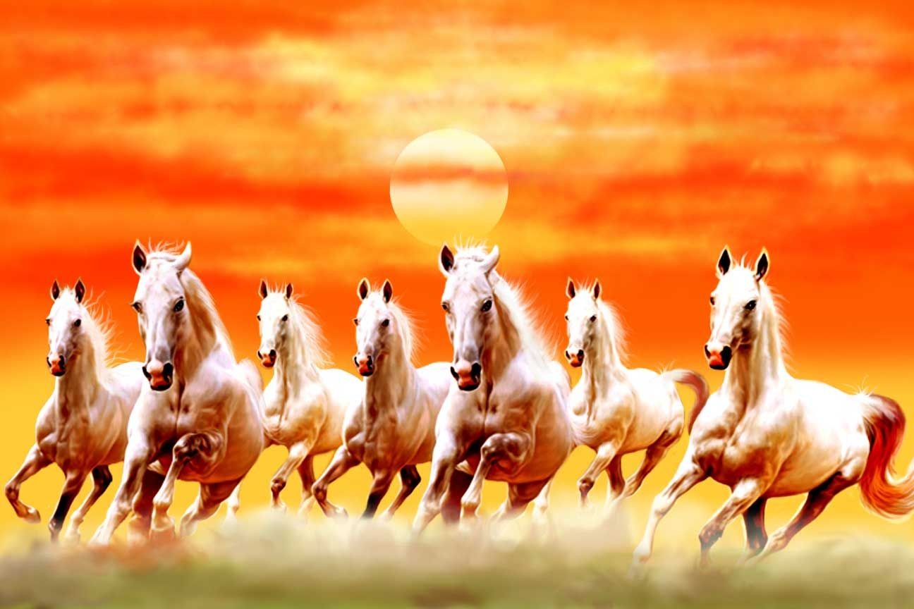 Seven Running Horses Running Horses Seven Horses Painting Horse Wallpaper