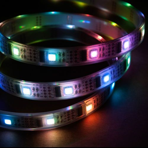 Colored Led Light Strips Gorgeous 1M Addressable Rgb Led Light Strip 5V Ws2801 Ip68 Waterproof 32 Led Inspiration Design