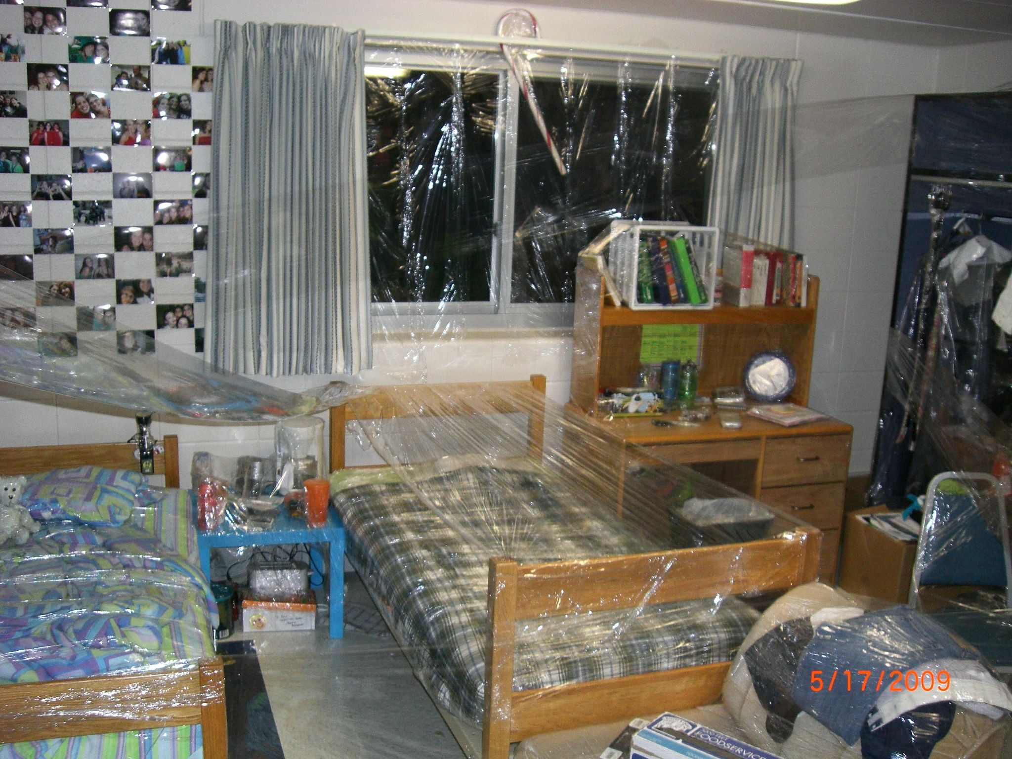 greatest prank to do on your friends room plastic wrap everything in their room