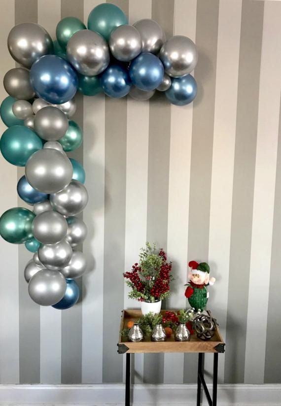 Christmas Balloon Garland Kit,Blue and Silver balloon garland,Winter Balloon arch #balloonarch
