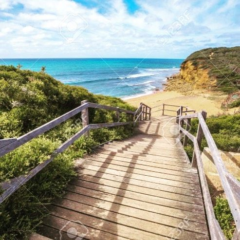 The path down to #Bellsbeach for the #ripcurlpro - Olympian Joe Sweeney got a bulldozer to make a path to this world class surf spot and charged surfers a pound for access in order to recoup his expenses! Surfers can be very entrepreneurial  by dasurfengine http://ift.tt/1KnoFsa