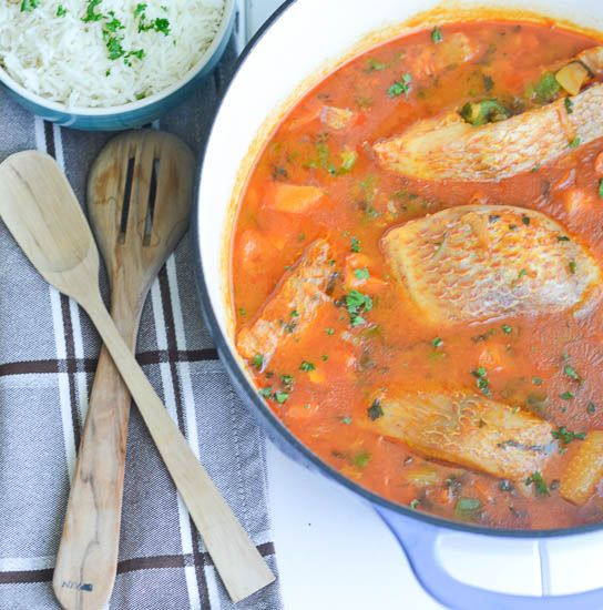 Tomato Based Fish Stew And Perfect White Rice Immaculate Bites Fish Stew African Stew African Food