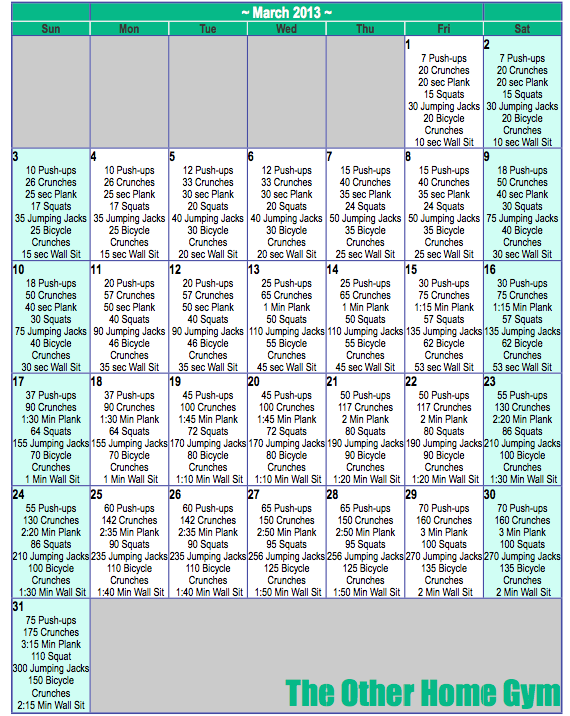 Workout Calendar Ideas : Home workout schedule on pinterest melissa bender