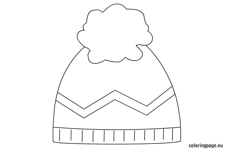 Winter Hat Hat Template Cute Coloring Pages Snowman Coloring Pages