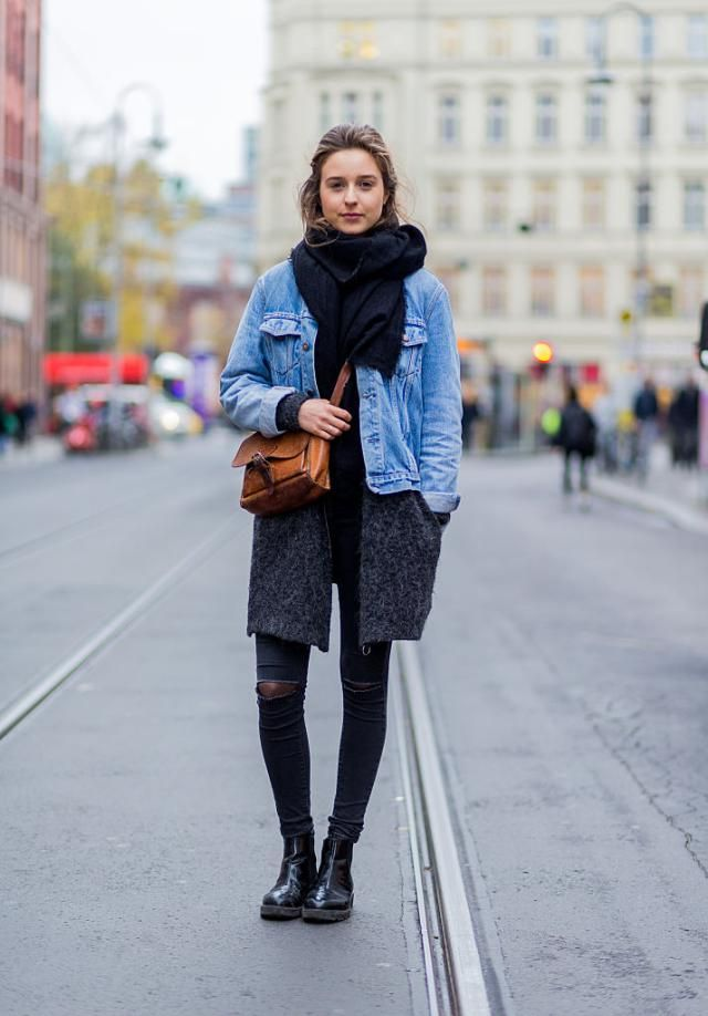 d85f48a0b9653 31 Winter Outfit Ideas - Your Daily #OOTD Inspiration for This Winter: Wear  a Jean Jacket Through Winter