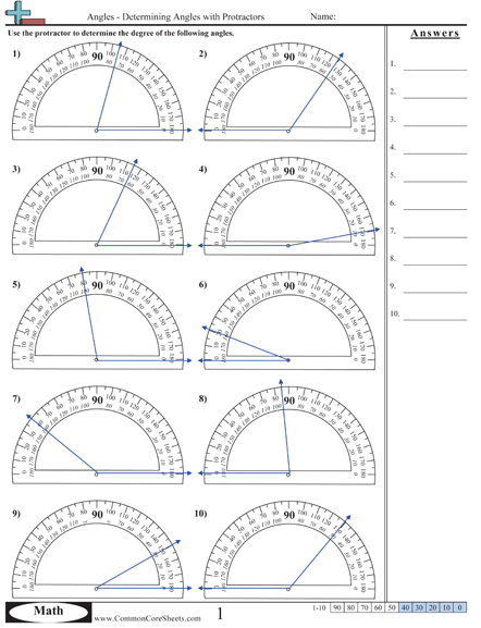 Printables Protractor Worksheets 1000 images about angles on pinterest
