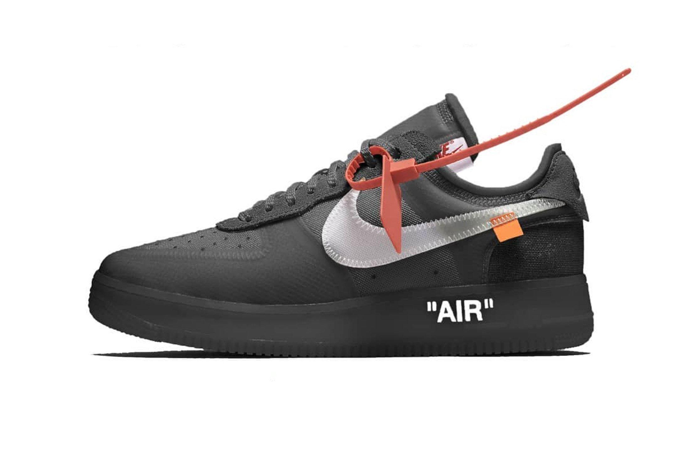 Virgil Abloh x Nike Air Force 1 to Release in Black - EU Kicks: Sneaker