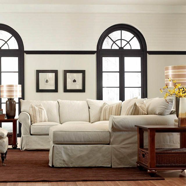 Jenny 3pc Slipcover Sectional Bernie And Phyls Pottery